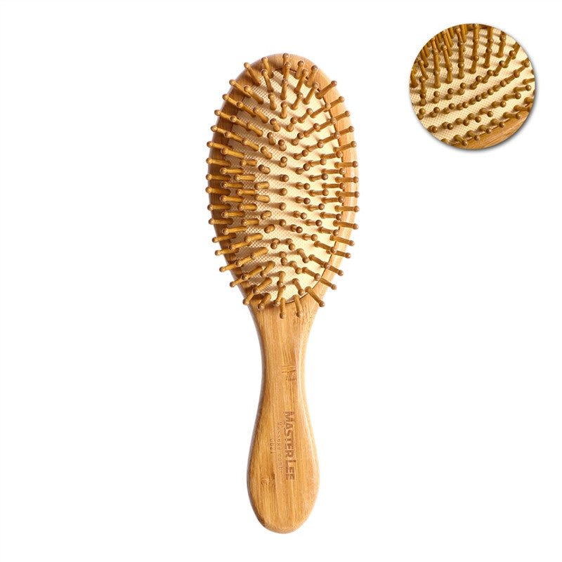 Natural Bamboo Anti-Static Wooden Bristles Massage Scalp Hair Brushes