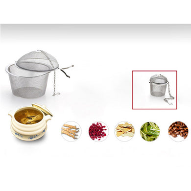 Stainless Steel Tea Infuser Locking Ball Tea Spice Mesh Herbal Ball Diam 4.5cm Cooking Tools