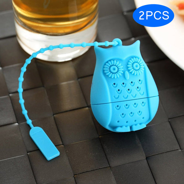 Cute Owl Tea Infuser Silicone (Random Color)