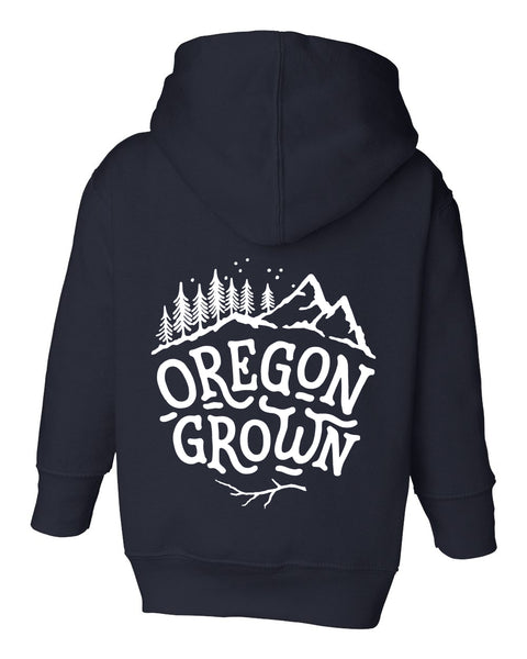 "Kids ""Oregon Grown"" Zip Up Hoodie"