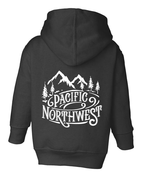 "Kids ""Pacific Northwest"" Zip Up Hoodie"