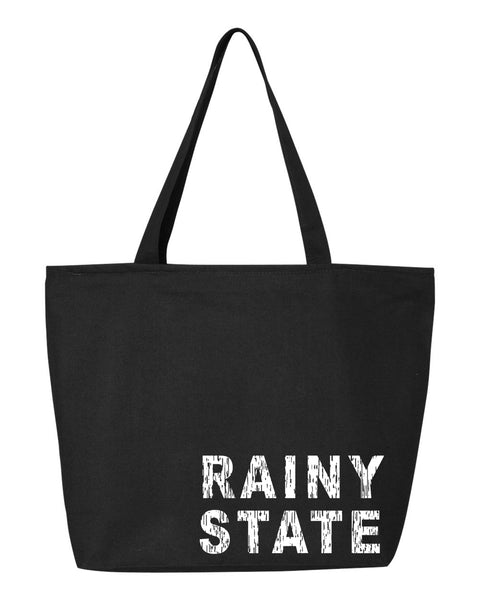 Rainy State Zipper Tote