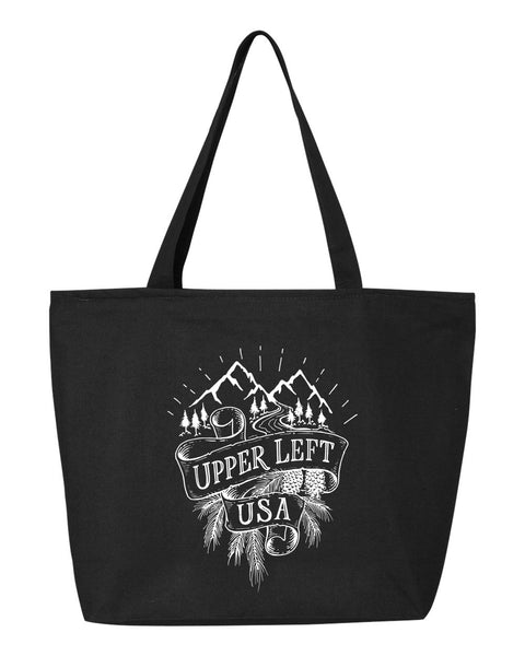 Upper Left USA Zipper Tote