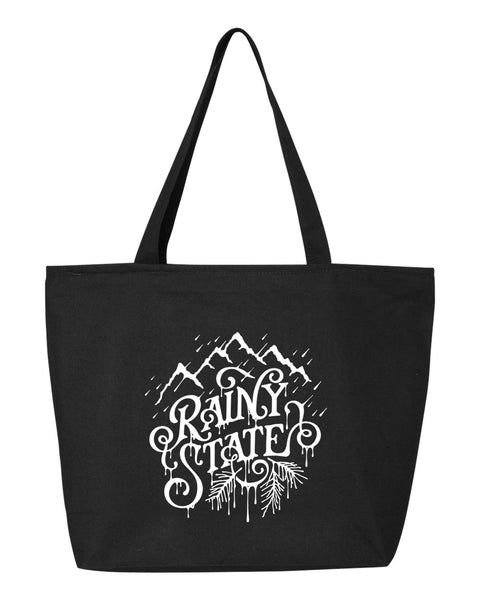 Rainy State (New) Zipper Tote