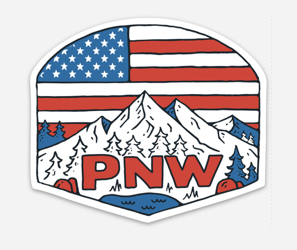 Patriotic PNW Sticker or Magnet