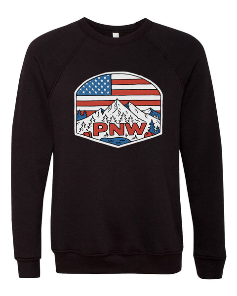 "Unisex Adult ""Patriotic PNW"" Fleece"