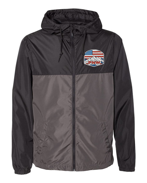 "Unisex Adult ""Patriotic PNW"" Windbreaker"
