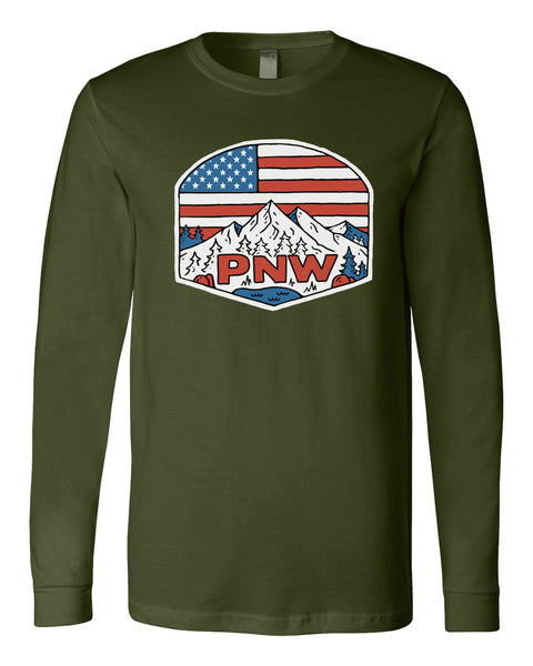 "Unisex Adult ""Patriotic PNW"" Long Sleeve"