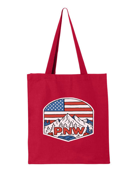 "Canvas ""Patriotic PNW"" Shopping Tote"