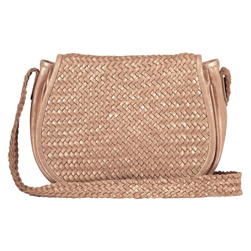 Dita Woven Leather Satchel