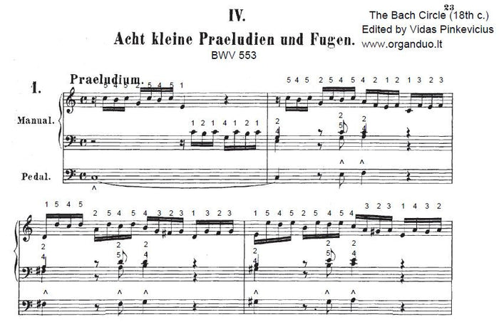 8 Little Preludes and Fugues, BWV 553-560