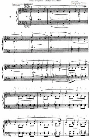 Andante in Db Major (long) from L'Organiste by Cesar Franck with Fingering