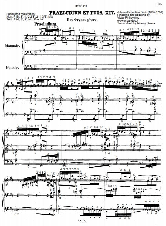 Prelude and Fugue in B Minor, BWV 544 by J.S. Bach