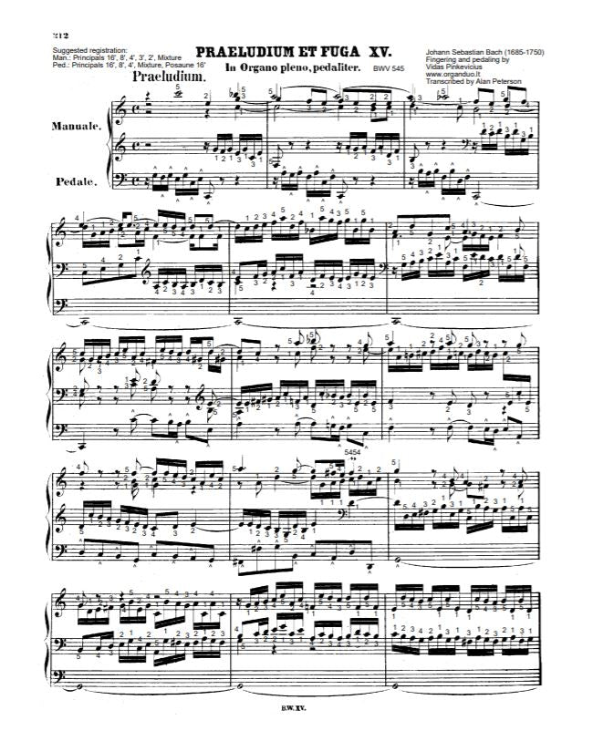 Prelude And Fugue in C Major, BWV 545