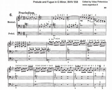 Prelude and Fugue in G Minor, BWV 558