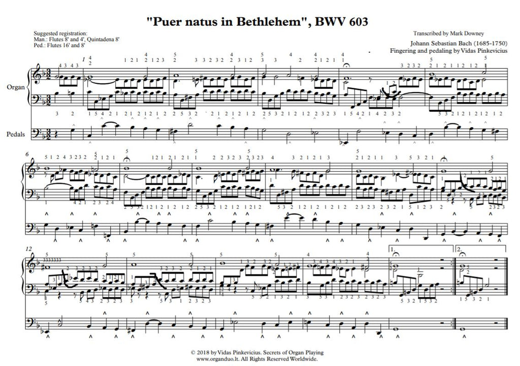 Puer natus in Bethlehem, BWV 603 by J.S. Bach