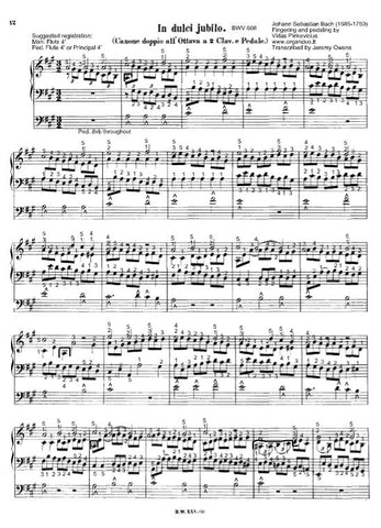 In dulci Jubilo, BWV 608 by J.S. Bach