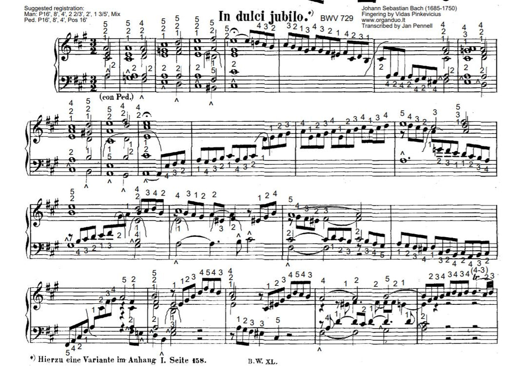 In dulci Jubilo, BWV 729 by J.S. Bach