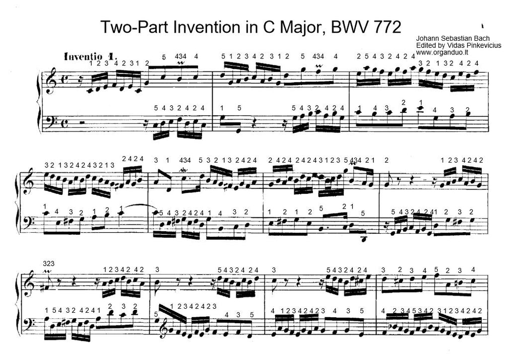 BWV 772 Home Study Course