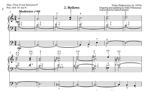 """Bellows"" from ""Organ ABC"" with Fingering and Pedaling by Vidas Pinkevicius"