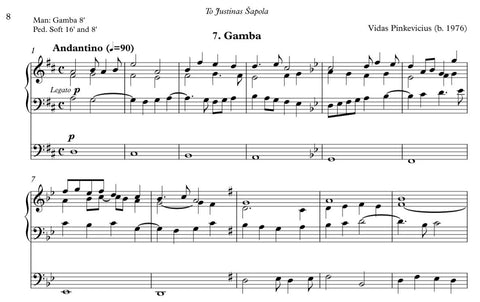Gamba from Organ ABC for organ by Vidas Pinkevicius (2020)