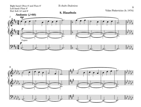 Hautbois from Organ ABC for organ by Vidas Pinkevicius (2020)
