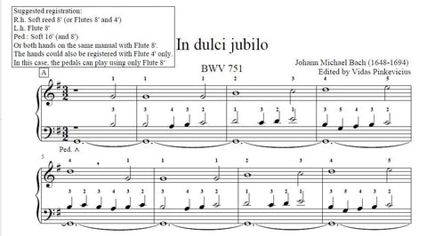 In dulci jubilo by Johann Michael Bach