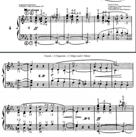 Maestoso in C Minor from L'Organiste by Cesar Franck with Fingering