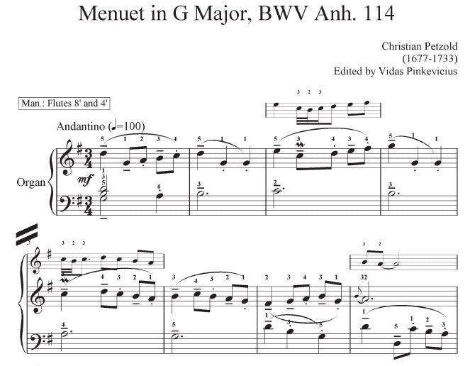 Deciphering Menuet in G Major