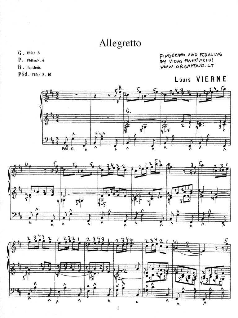 Vierne Allegretto