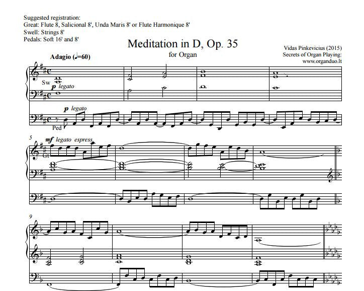 Op. 35 Meditation in D (2015)