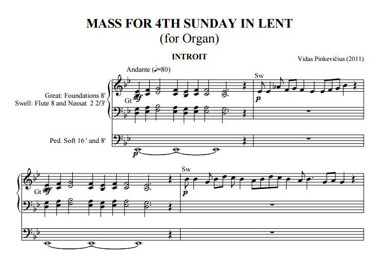 Op. 6: Mass for the 4th Sunday in Lent