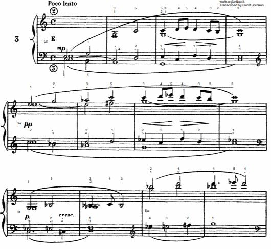 Poco Lento in C Major from L'Organiste by Cesar Franck with Fingering