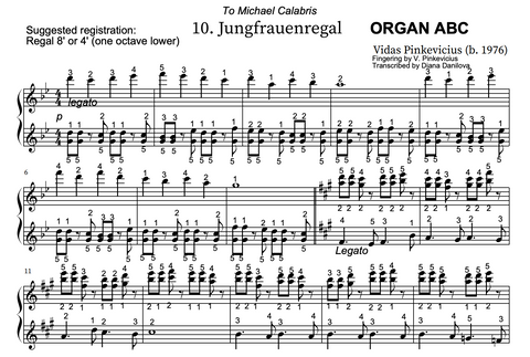 Jungfrauenregal from Organ ABC by Vidas Pinkevicius (2020)