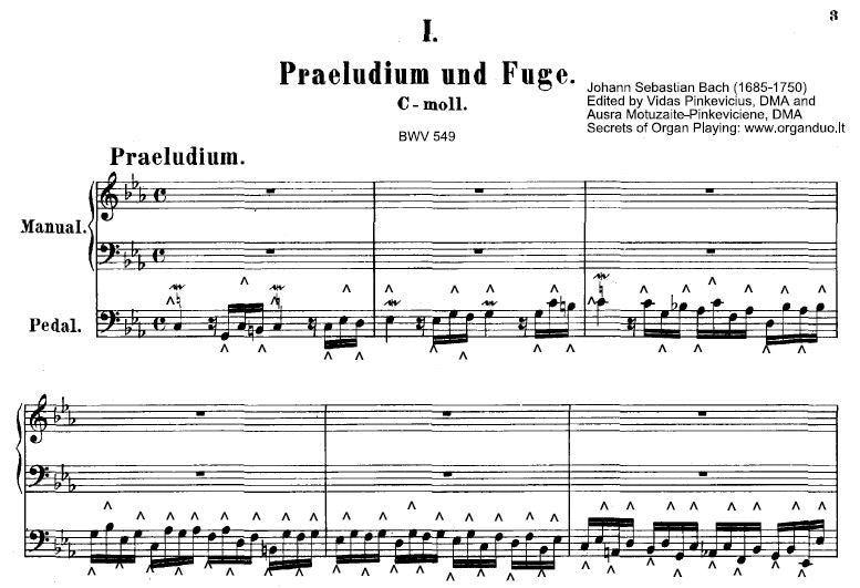Prelude and Fugue in C minor, BWV 549 by Bach