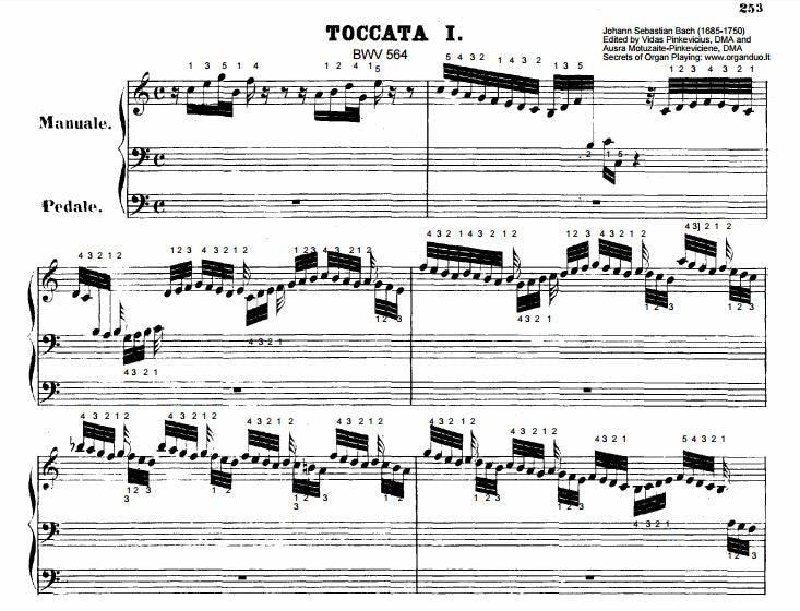 Toccata, Adagio, and Fugue in C Major, BWV 564 by Bach