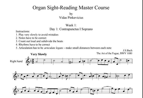 Organ Sight-Reading Master Course