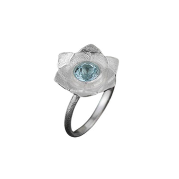 Blue Pistil Lotus Ring