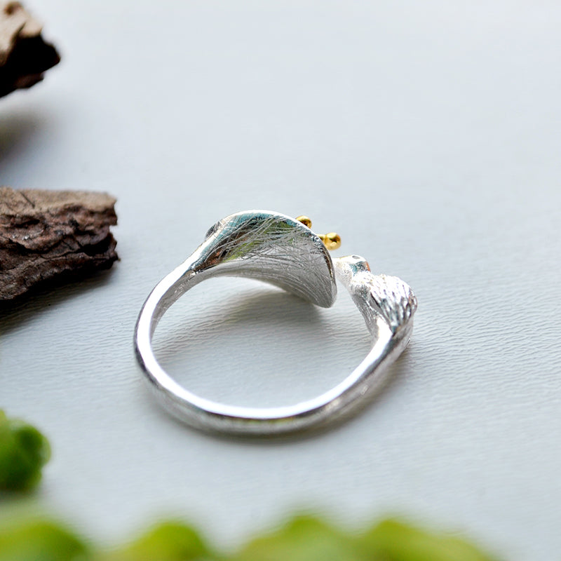 Hummingbird & Flower Ring