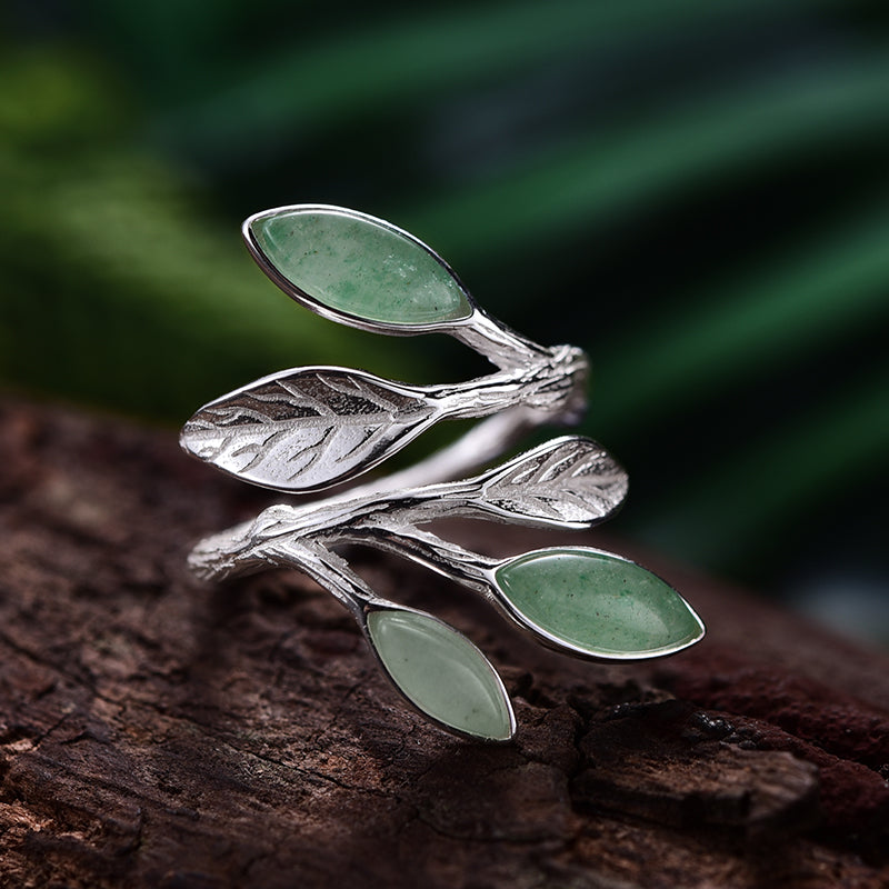 Aventurine Sprout Ring