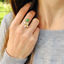 Lotus Whispers Aventurine Ring