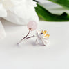 Jardin Asian Lotus Pink Crystal Ring - thatringshop