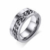 Rotatable Chain With Roman Numeral Stainless Steel Ring - thatringshop