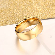 Classic Gold Plated Stainless Steel Ring