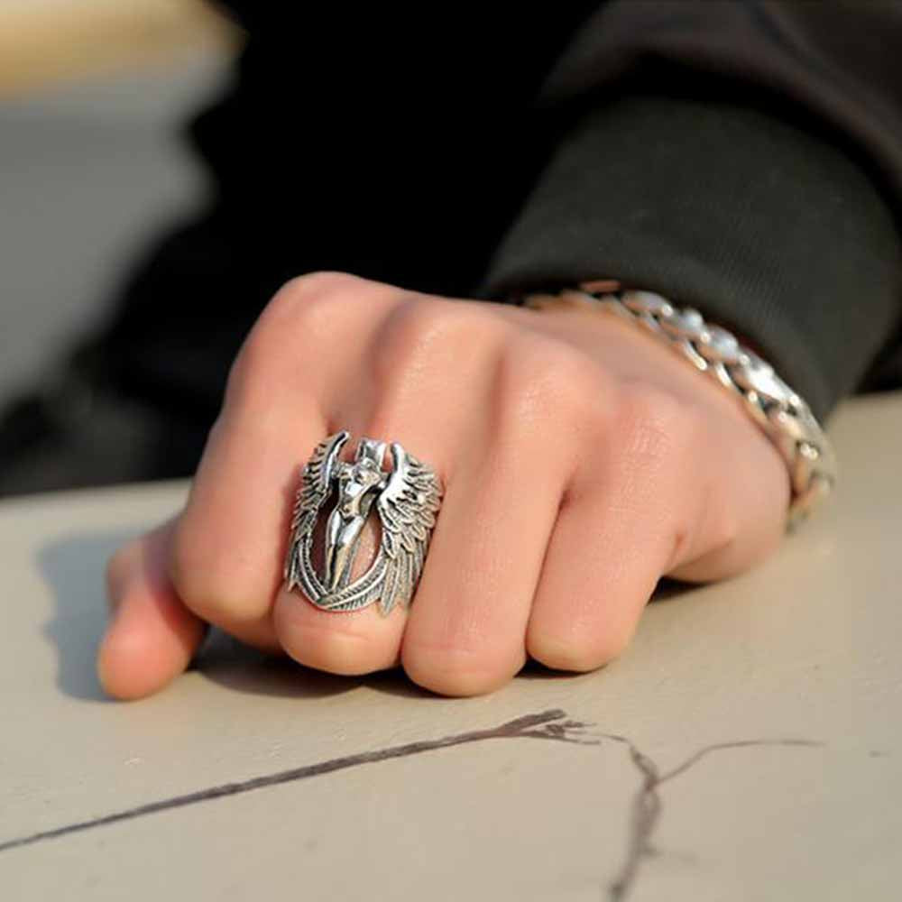 Decapitated Angel Sterling Silver Ring