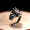 East Asian Dragon Sterling Silver Ring - thatringshop