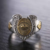 Eye of Horus Sterling Silver Ring - thatringshop
