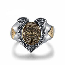 Eye of Horus Sterling Silver Ring