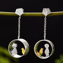 Boy & Girl Loves Cat Earrings