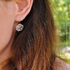 Jardin Flower in the Rain Drop Earrings - thatringshop